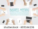 business meeting flat concept... | Shutterstock .eps vector #603166136