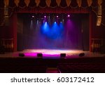 the stage of the theater... | Shutterstock . vector #603172412