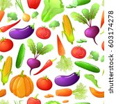 colorful cartoon style seamless ... | Shutterstock .eps vector #603174278