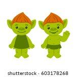 Cute Cartoon Troll Or Goblin...