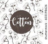 cotton flowers vector... | Shutterstock .eps vector #603198626