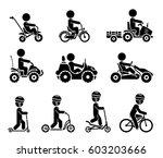 set of pictograms representing... | Shutterstock .eps vector #603203666