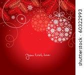 elegant christmas background | Shutterstock .eps vector #60322993