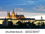 A View Of The Prague Castle At...
