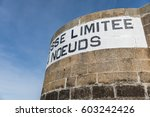 speed limit 4 knots  in french  ... | Shutterstock . vector #603242426