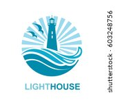 lighthouse icon design with... | Shutterstock .eps vector #603248756