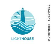 lighthouse icon design with... | Shutterstock .eps vector #603249812