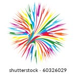 Abstract Firework Vector...