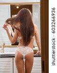 beautiful sexy brunette in...   Shutterstock . vector #603266936