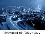 blue tone kuala lumpur... | Shutterstock . vector #603276392