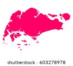 map of singapore | Shutterstock .eps vector #603278978