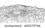 city  sketch  3d illustration | Shutterstock . vector #603279746
