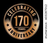 170 years anniversary logo... | Shutterstock .eps vector #603287012