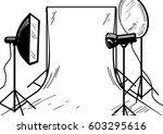 vector illustration of a photo... | Shutterstock .eps vector #603295616