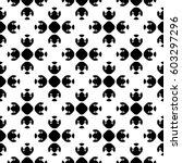 vector monochrome geometrical... | Shutterstock .eps vector #603297296