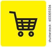 shopping cart icon | Shutterstock .eps vector #603305336