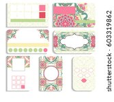 set of loyalty cards. beautiful ... | Shutterstock . vector #603319862