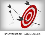 vector   archery targets and... | Shutterstock .eps vector #603320186