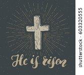 vintage label  hand drawn... | Shutterstock .eps vector #603320555