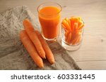 the carrots  carrots sticks ... | Shutterstock . vector #603331445