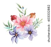 watercolor invitation design... | Shutterstock . vector #603332882