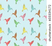 vector seamless pattern with... | Shutterstock .eps vector #603334172