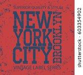 new york  typography fashion  t ... | Shutterstock . vector #603354902