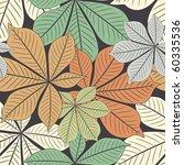 Autumn Chestnut's  Leaves In...