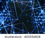 futuristic technology cyber... | Shutterstock . vector #603356828