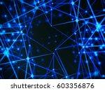 futuristic technology cyber... | Shutterstock . vector #603356876