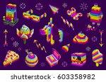 unicorn shit  robots  ice cream.... | Shutterstock .eps vector #603358982