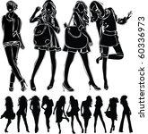 a lot of vector black... | Shutterstock .eps vector #60336973