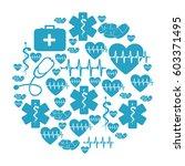 circular pattern blue... | Shutterstock .eps vector #603371495