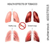 health effects of smoking.... | Shutterstock .eps vector #603375515