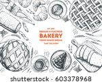 bakery sketch. bakery top view... | Shutterstock .eps vector #603378968