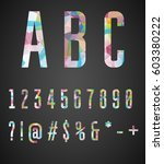 colorful numbers and symbols ... | Shutterstock .eps vector #603380222