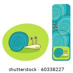 cute snail and a snail bookmark