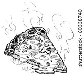vector pizza slice sketch