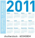 simple blue calendar for year... | Shutterstock .eps vector #60340804