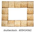 rectangular frame made of matza ... | Shutterstock . vector #603414362