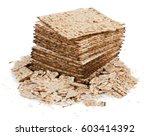 pile of matza and some broken... | Shutterstock . vector #603414392