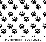 paw print seamless. traces of... | Shutterstock .eps vector #603418256