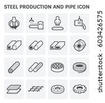 vector icon of steel pipe and... | Shutterstock .eps vector #603426575