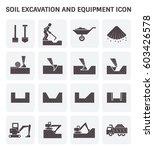 soil excavation and equipment... | Shutterstock .eps vector #603426578