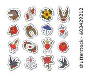 doodle icon  stickers.... | Shutterstock .eps vector #603429212
