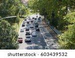 traffic in 23 de maio avenue in ... | Shutterstock . vector #603439532