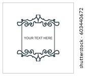 vector outline text template.   Shutterstock .eps vector #603440672