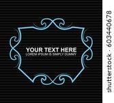 vector outline text template.   Shutterstock .eps vector #603440678