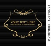 vector outline text template. | Shutterstock .eps vector #603440735