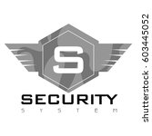 isolated business logo on a...   Shutterstock .eps vector #603445052